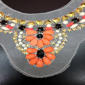 Girly Lace Beaded Acrylic Collar