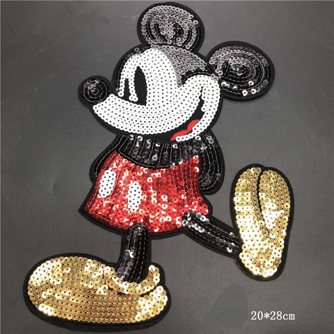 Mickey Mouse Sequin Applique