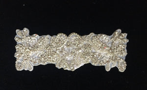 Rose Gold Rhinestone Lace Belt