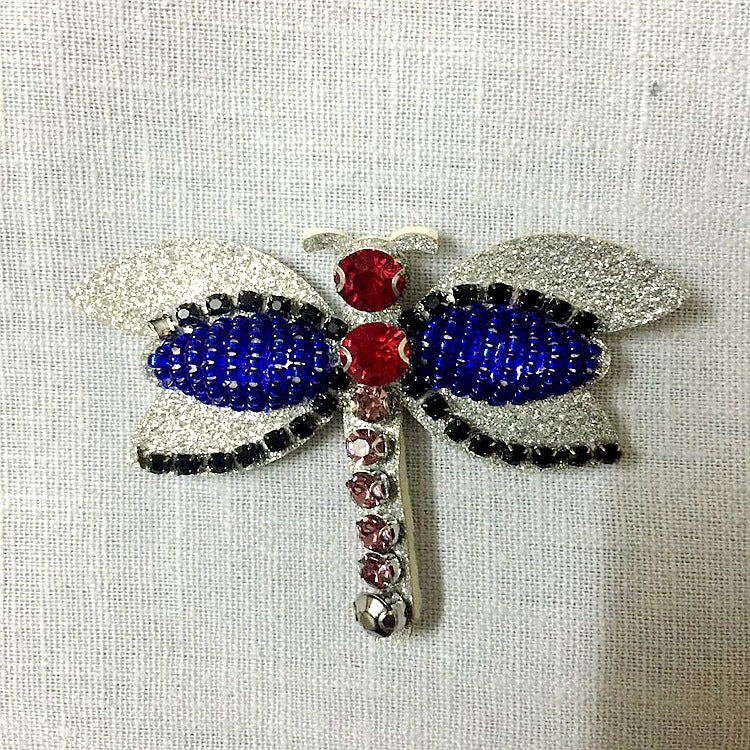 Needle Bead Epaulette Dragonfly Cloth Sticker