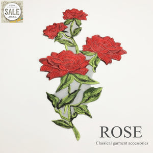Classic High-quality Yarn Bottom Embroidery Rose Lace Applique