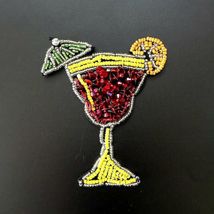Wine Glass Small Animal Nail Beads Rhinestone Cloth Sticker - SUGAR FABRICS