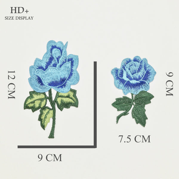 Color Embroidery Small Rose Embroidery Without Back Glue Applique