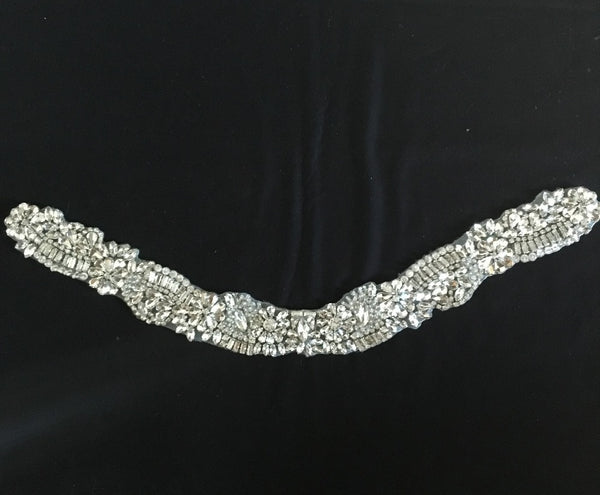 High Quality Rhinestone Adhesive Collar Decorative Applique