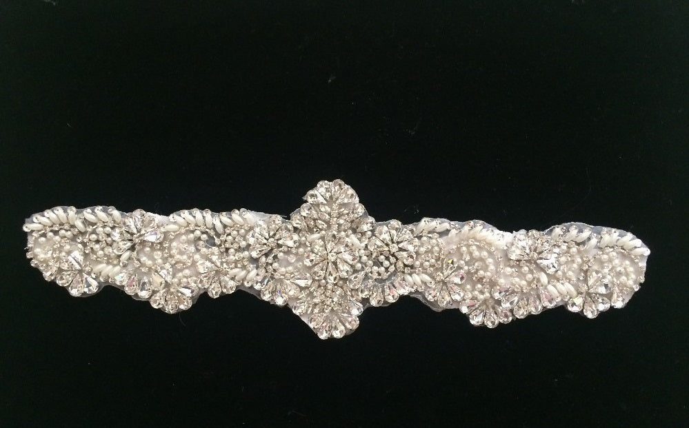 Lace Luxury Rhinestone Pearl Bridal Belt