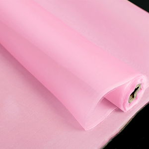 Pink Color Silk Organza