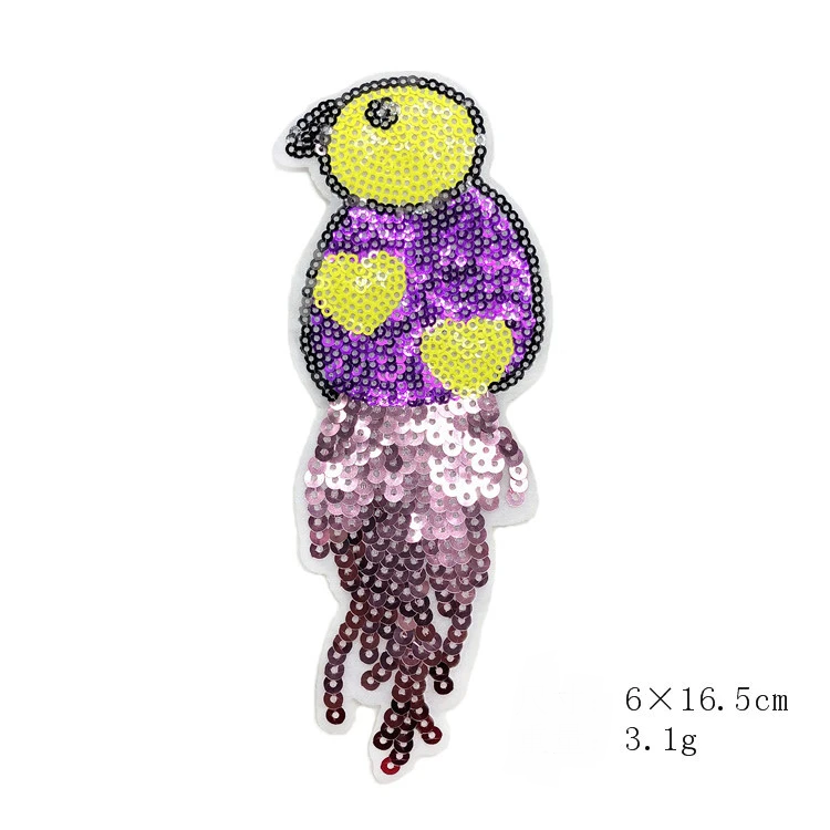 Sequin Bird Embroidery Cloth Patch