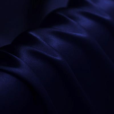 Black Blue Satin Silk Charmeuse(19 Momme)