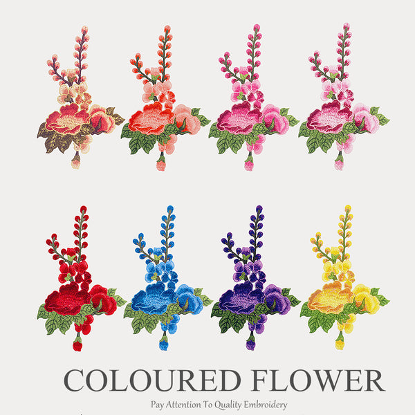 Multicolor Flower Ethnic Embroidery Patch