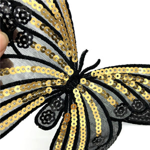 Sequin Butterfly Applique