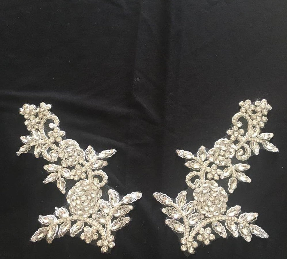 Hand Beaded Lace Applique