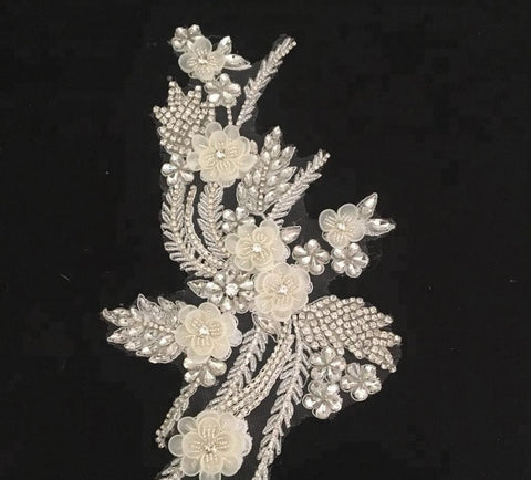 Handmade Beaded Lace Decoration Applique