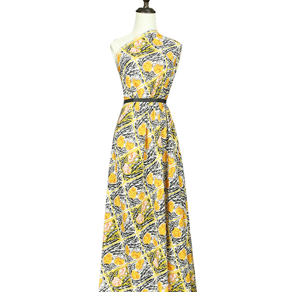 Yellow Silk Crepe De Chine(12 Momme)