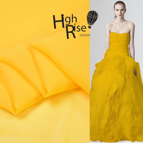 Yellow Silk Georgette