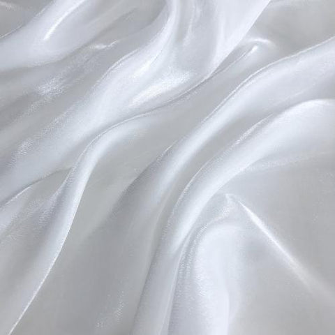 Natural White Flash Polyester Organza