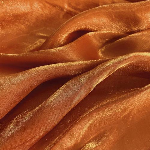 Golden Red Flash Polyester Organza