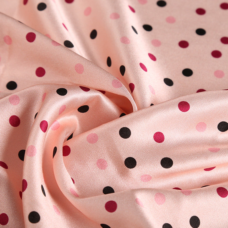 Wave Point Patterns Satin Silk Charmeuse(20 Momme)