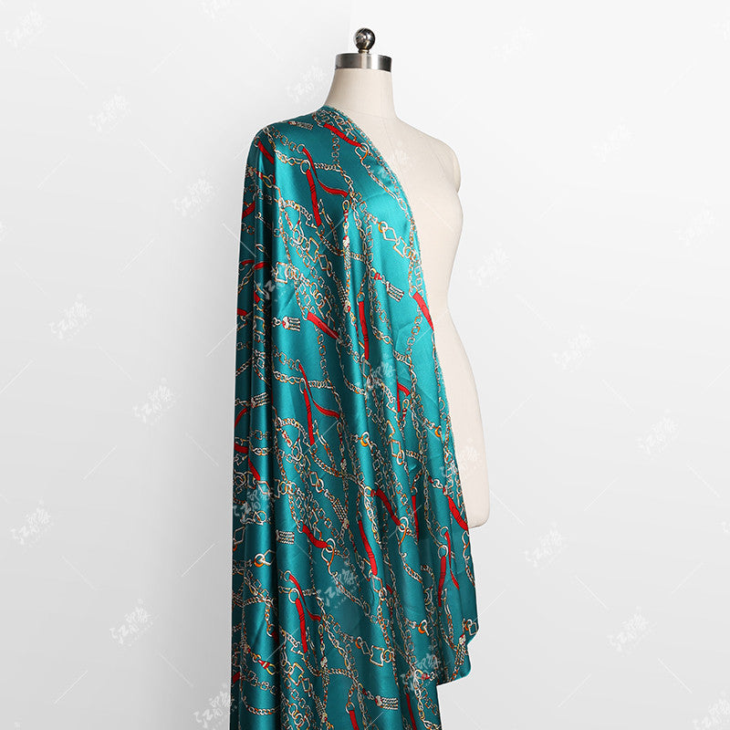 Chain Printing Satin Silk Charmeuse(20 Momme)