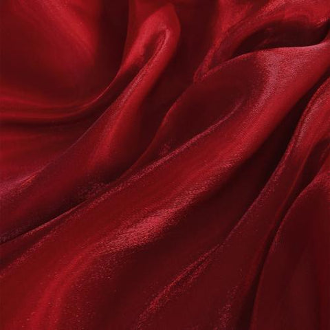 Red Wine Flash Polyester Organza