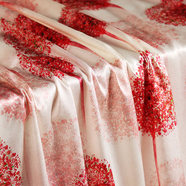 Red Spike Digital Printing Satin Silk Charmeuse(20 Momme)