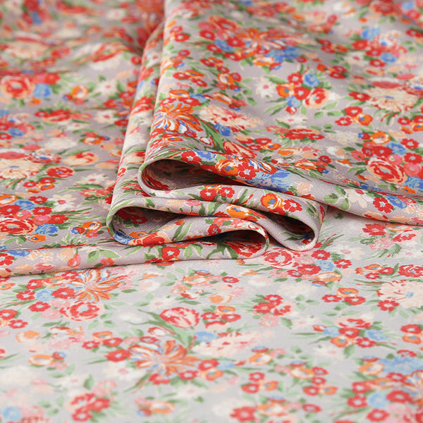 Small Floral Silk Crepe De Chine(12 Momme)