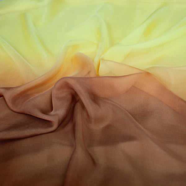 Yellow Print Silk Chiffon