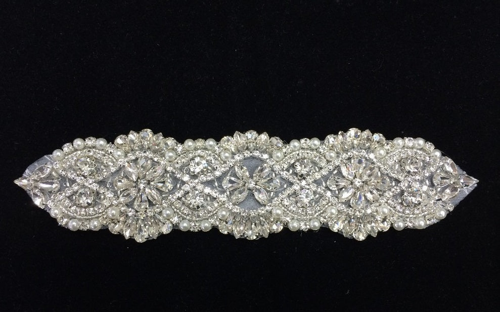 Beaded Rhinestone Silver Wire Decorative Code Chain Belt
