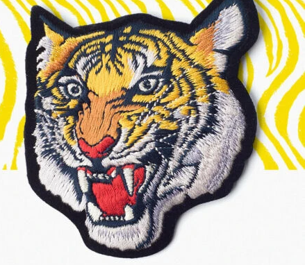 Iron On 3 types Tiger Head Patches - SUGAR FABRICS