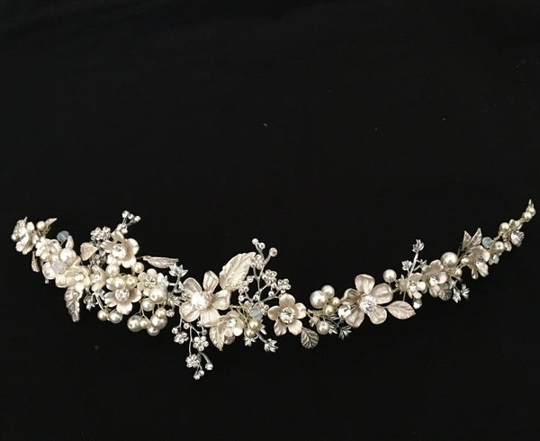 Bridal Diamond Pearl Headband Hair Accessories Headdress