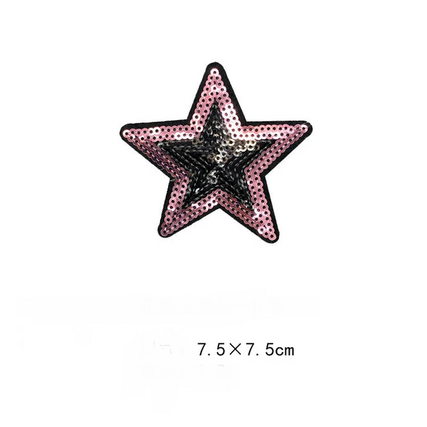 Love Five-pointed Star Sequin Applique
