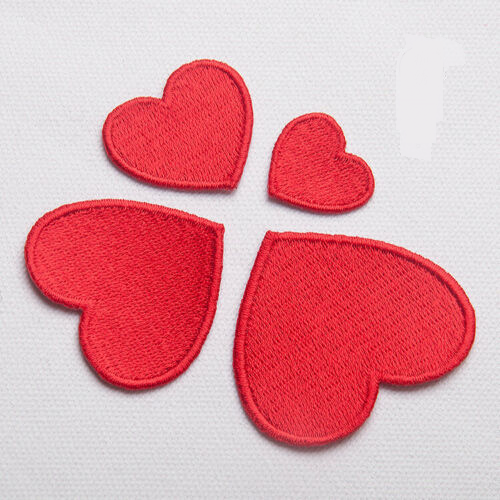 Iron On Heart Patches - SUGAR FABRICS