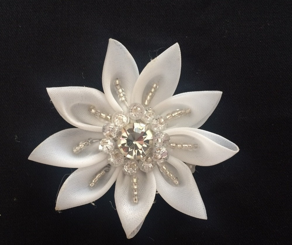 Rhinestone Chiffon Flower Multipurpose Applique