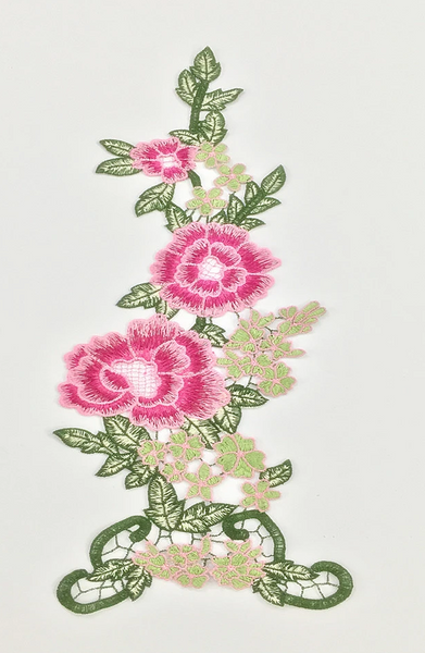 Embroidery Water-soluble Multicolor Flower Stickers
