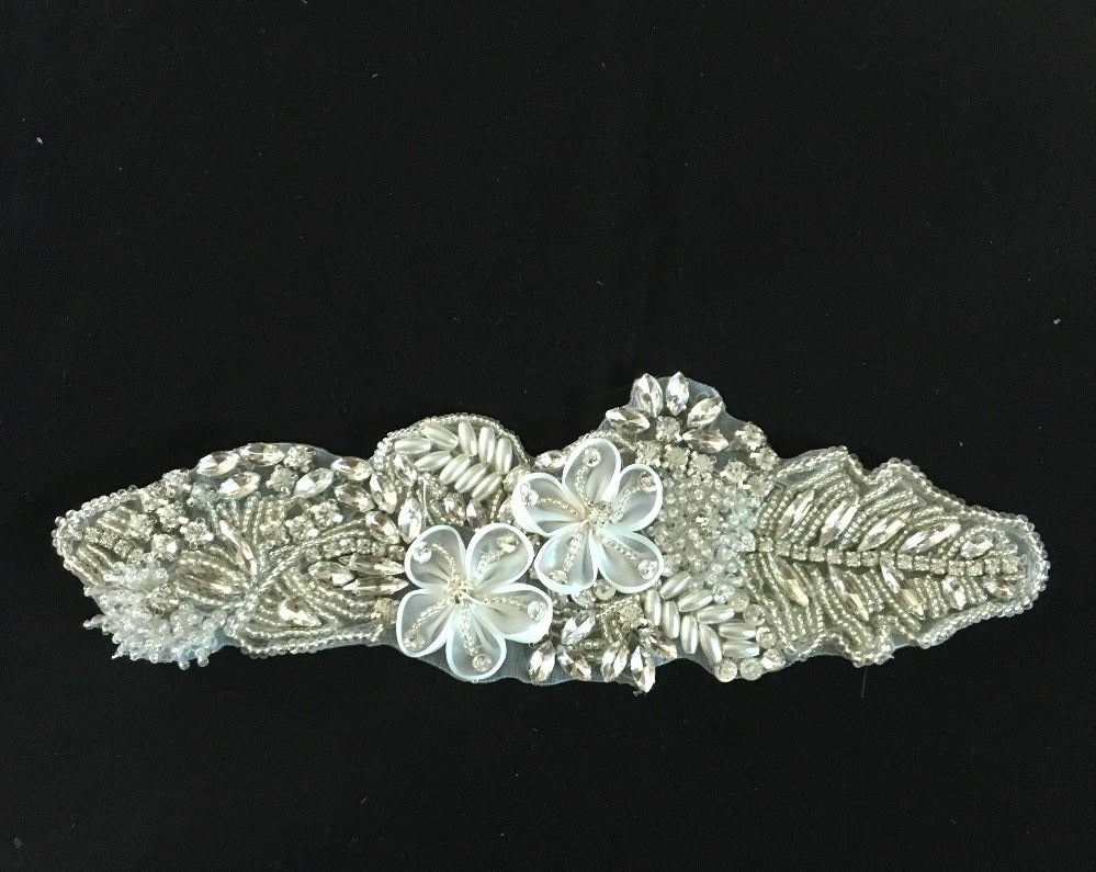 Bridal Decoration Handmade Flower Crystal Diamond Adhesive Applique