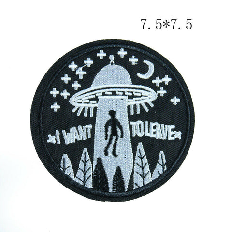 Sew on The Alien Spaceship Patch