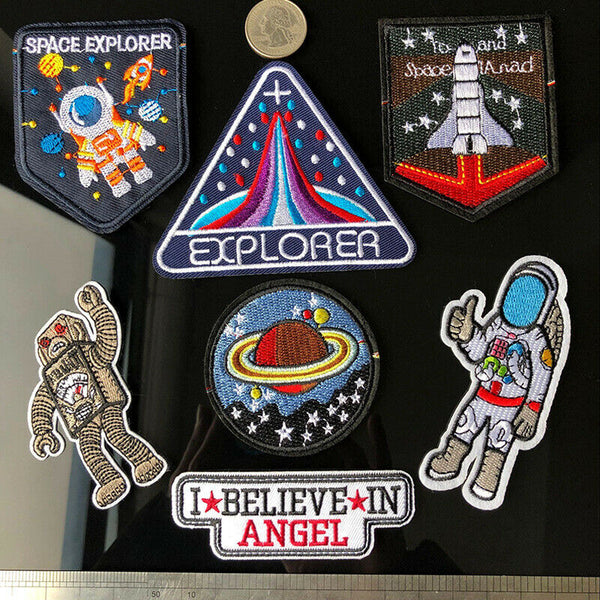 Sew On Cartoon Astronaut Patches