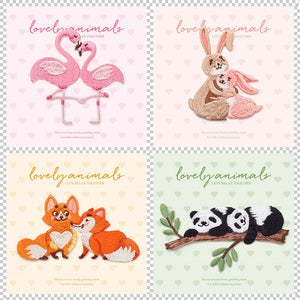 Iron On Flamingos Panda Rabbit Patches - SUGAR FABRICS