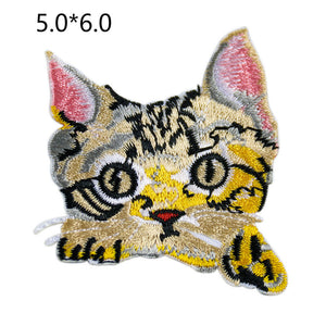 Sew on Cute Cat Patches Embroidered Patches - SUGAR FABRICS