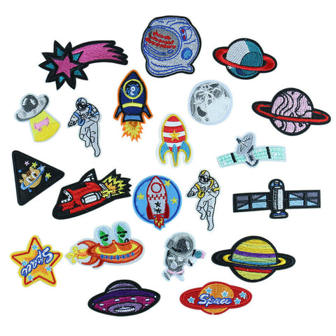 Sew on Alien Spaceship Patches Embroidered Patches Handcraft Trim