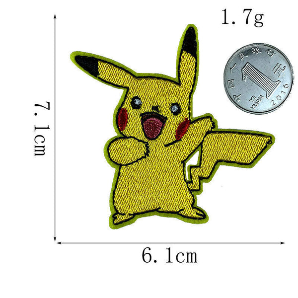 Sew On Pikachu Patches