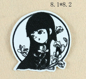 Sew On Black and White Characters Patches - SUGAR FABRICS
