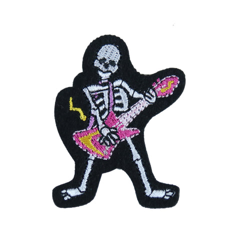 Sew on Skull Guitar Patch