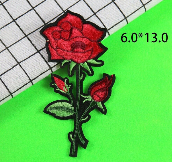 Sewing Rose Badge Patch