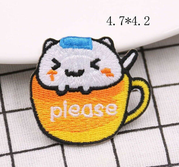 Sew On Teacup Cat Patches