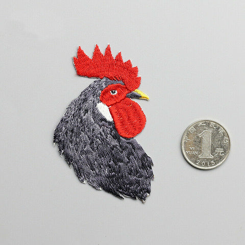 Iron on Rooster Patches - SUGAR FABRICS