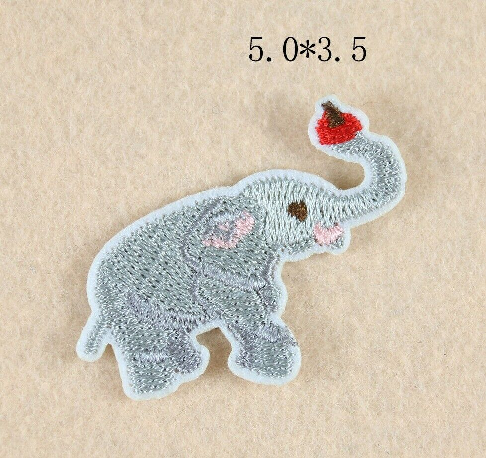 Sew on Elephant Patches - SUGAR FABRICS