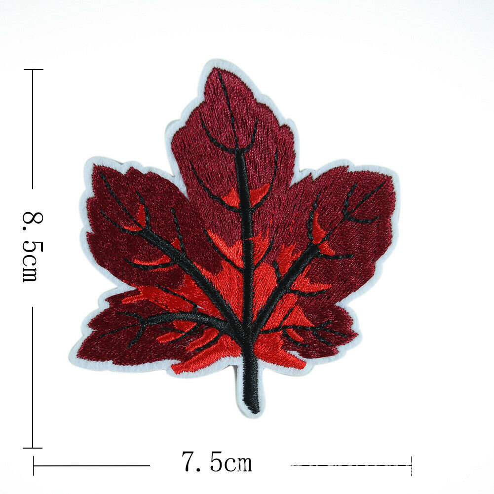 Sewing Snowflake Maple Leaf Patch