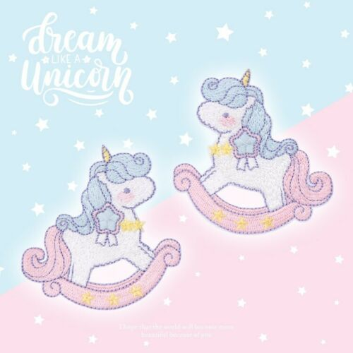 Iron On Unicorn play Patches - SUGAR FABRICS