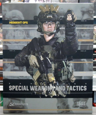 "DamToys 1/6 12"" Elite Series 78044B Midnight Ops SWAT Special Weapons And Tactics Team Action Figure"