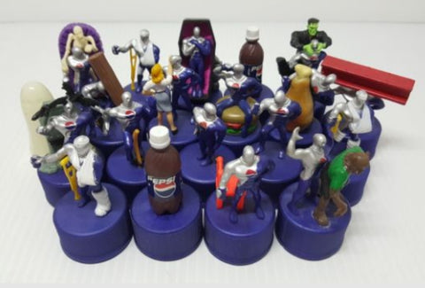 Pepsiman 20 Bottle Cap Trading Figure Set Used